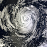 View of Global storm from space. Elements of this image furnished by NASA
