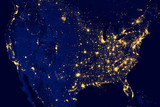 United States city lights