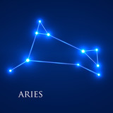 Constellation Aries Zodiac Sign. Vector Illustration. Eps 10