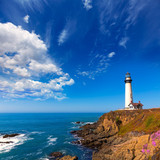 Pigeon Point Lighthouse California w Cabrillo Hwy nadmorskiej autostradzie 1