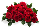 Big bouquet of red roses