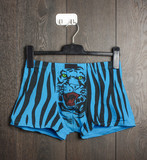 Sexy male shorts with tiger on the hanger