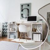 DIY desk in stylish room