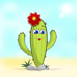 Cactus flower Illustration