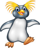 Cartoon funny penguin rockhopper