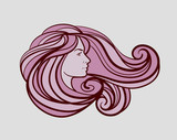 beautiful woman logo for beauty salon, spa, firm or company. Vector illustration