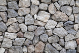 Texture of gray rough granite stone wall