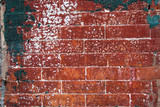 Weathered brick wall