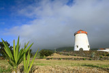 Windmill landscape from Azores Islands