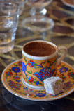 Cup Of Turkish Coffee with turkish sweets.