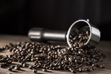 Coffee,coffee beans, background.