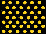 Patterns with circles on black background , vector illustration