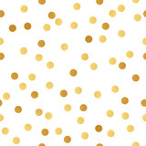 Seamless vector pattern with golden bokeh dots.