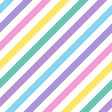 Seamless geometric multicolored diagonal striped pattern