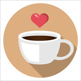 cup of coffee flat design