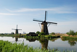 Typical windmills in Holland
