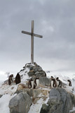 memorial Cross at the site where the British wintering and Gento