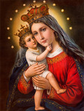 Typical catholic image of Madonna with the child