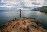 Cross over the lake Baikal