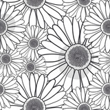 Pattern daisy black and white