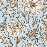 Floral seamless pattern  Flower background. Nature tiled ornament