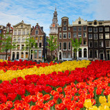 facades of old houses ,  Amsterdam, Netherlands