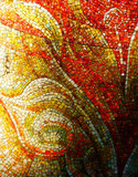 colorful glass mosaic detail