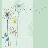 Floral Seamless Card Blue