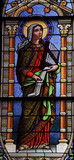 Saint cecilia stain glass window