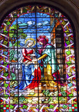 Visitation Mary Stained Glass San Francisco el Grande Madrid