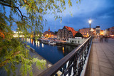 City of Bydgoszcz by Night in Poland