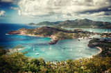 Falmouth bay - Widok z Shirley Heigths, Antigua