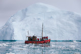 Iceberg and Fishing Boat