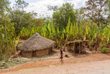Houses in the rural Ethiopia