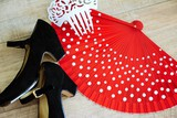 Flamenco accessories: shoes, fan and comb