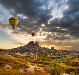 Air balloon over UchLove valley Cappadocia Turkey