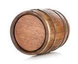 Brown wooden barrel