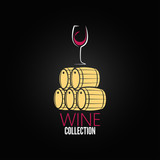 wine glass cellar barrel design background
