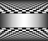 Abstract 3D Background black and white