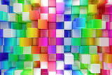 Colorful blocks abstract background