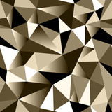 Abstract bronze gradient geometric rumpled triangular seamless low poly style background