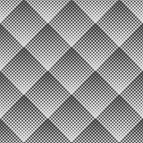 Vector abstract geometric seamless pattern of rhombuses. Gradient Halftone Dot.
