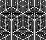 Seamless optical ornamental pattern with three-dimensional